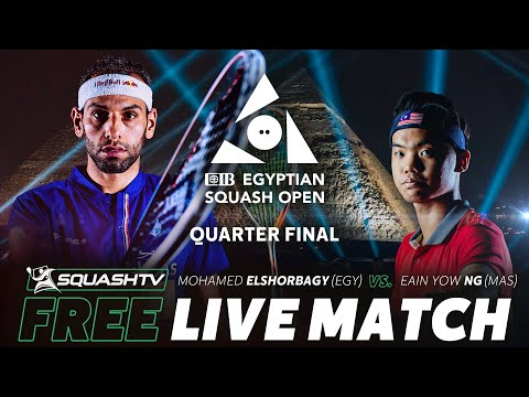 FREE LIVE SQUASH: ElShorbagy v Yow Ng - CIB Egyptian Open Quarter Final