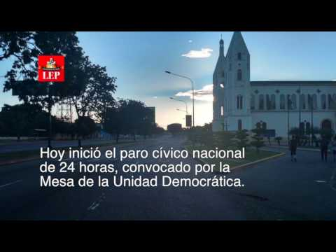 Paro general de 24 horas de la oposición es acatado parcialmente en Caracas