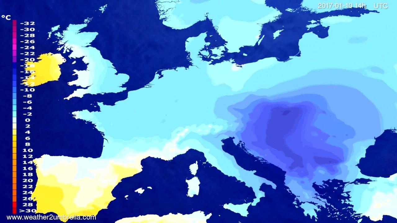 Temperature forecast Europe 2017-01-06