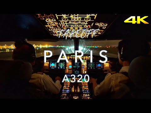 PARIS | A320 TAKEOFF 4K