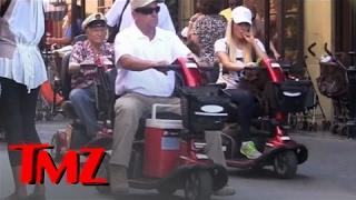 Hugh Hefner, Wife, And Playmates At Disneyland