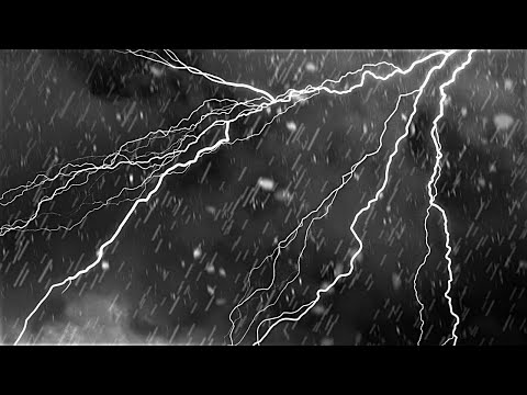 Rain and Thunderstorm Sounds | BLACK SCREEN | Sleep, Study, Focus, Meditate, Relax