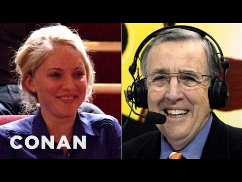 Brent Musburger Checks Out Conan's Audience