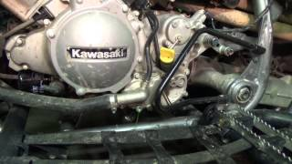 10. Kawasaki KFX 700 - Draining some coolant