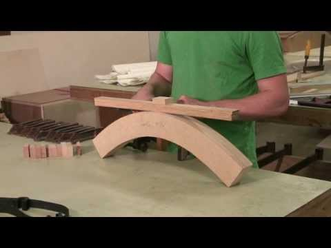 woodworking - Bend wood to make furniture using a bent lamination technique that involves cutting wood into the desired shape, ripping wood strips, applying glue with a ro...