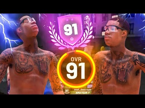 FIRST 91 OVERALL SHOT CREATOR STRETCH BIG IN THE WORLD! NBA 2K19 7 FT SHOT CREATOR!