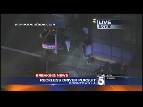 Caught on Video: Pursuit Comes to Violent End; LAPD Shoot Suspect During Live Broadcast
