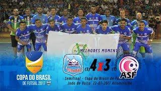 Tubarão CFZ (3)4X3(1)Sorriso-MT Semifinal - jogo de Volta - Copa do Brasil de Futsal Melhores Momentos.