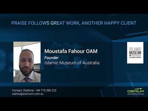 Founder of Islamic Museum of Australia Speaks About Osmium