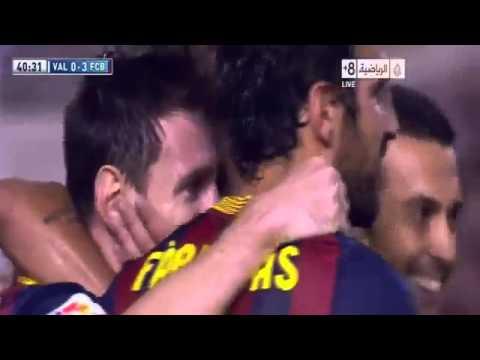 Barcelona vs valencia 3-2 1/9/2013 All Goals HD (видео)