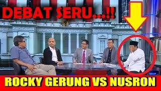 Video PALING SERU !! Debat Rocky Gerung Vs Nusron wahid MP3, 3GP, MP4, WEBM, AVI, FLV Februari 2019