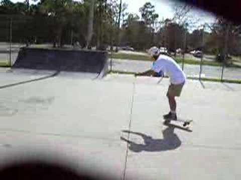 Skateboard Nose Manual Matt Hughes Skatepark Myrtle Beach