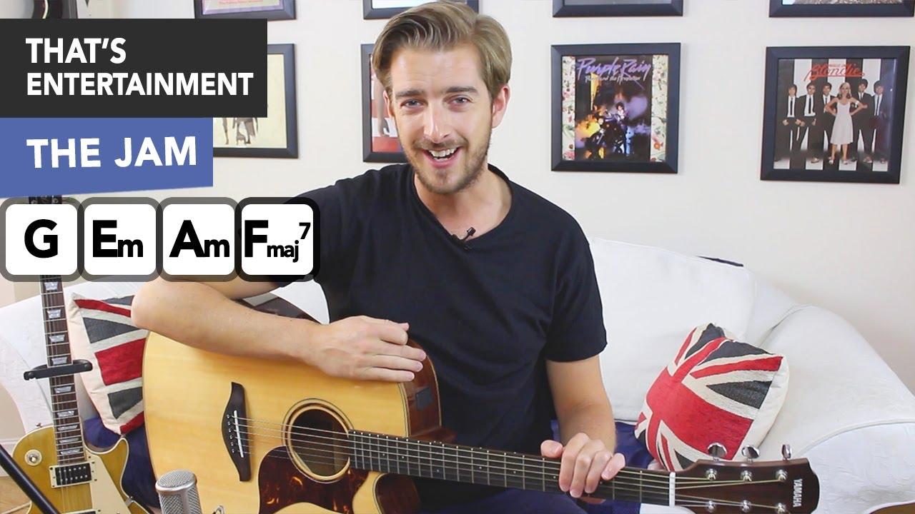 That's Entertainment Guitar Tutorial – The Jam/ Paul Weller – Easy Beginner Song