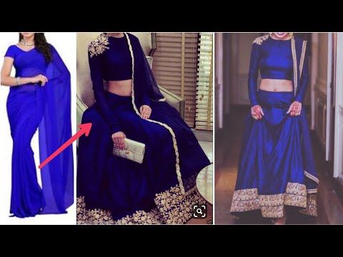 Convert Old Sareefabric Into Lehenga Choli लहग चल In
