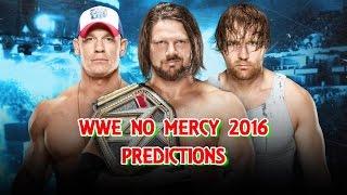WWE No Mercy 2016 WWE World Championship AJ Styles vs. Dean Ambrose vs. John Cena Predictions