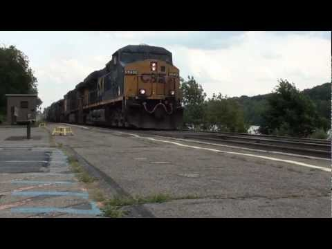 HiDef: Tons of CSX Action on the Mohawk Sub! Blownup GEVO, horn salutes - 8/17/12.