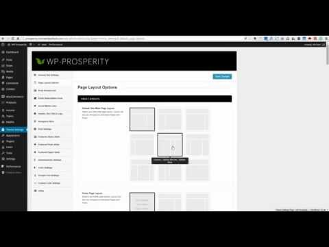 WP-Prosperity WordPress Theme - Page Layout Options