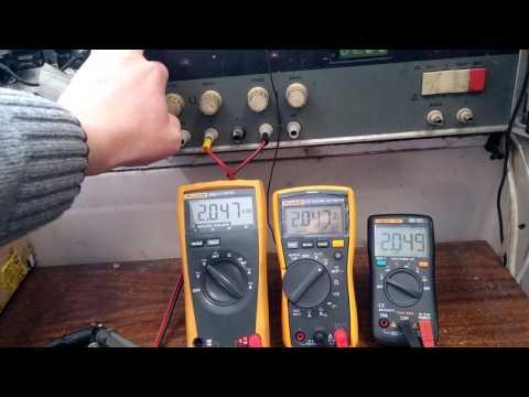 Test - Fluke 23 III, Fluke 117, Richmeters 101 ( RM101 )