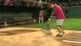 We present the detailed maintenance of the bullpen pitcher's mounds of the Philadelphia Philles.
