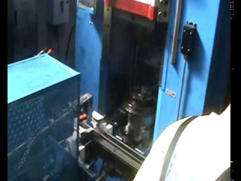 Friction screw press Vaccari 9PS, with hot billet bending system and loading automation