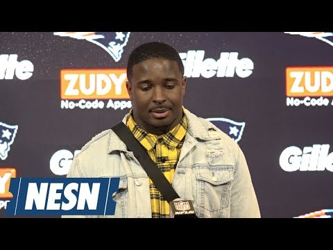 Video: Sony Michel AFC Divisional round Patriots vs. Chargers postgame press conference