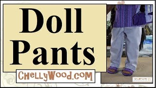 Free Doll Clothes Patterns: 18 inch (46 cm) Dolls Pants (Basic Pattern)