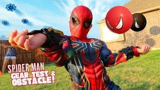 Video Spider-Man Gear Test & Super Hero Obstacle Course Kids Challenge!!! MP3, 3GP, MP4, WEBM, AVI, FLV Juni 2018
