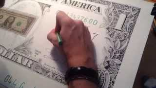 The Dollar by Giorgio Arcuri - Time Lapse of Super size Photo Realism