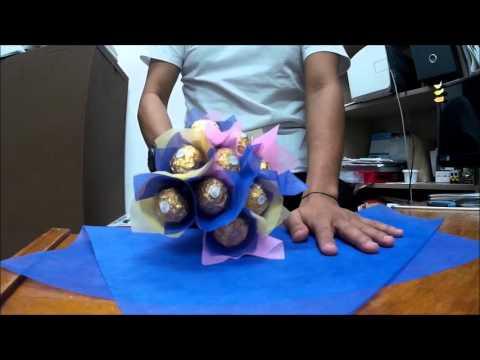 DIY ferrero bouquet for Diana Lee