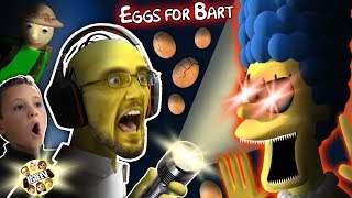 SIMPSONS GURKEY GAME!  FGTEEV gets EGGS FOR BART!  (Dudz w/ Chase's Voice!)