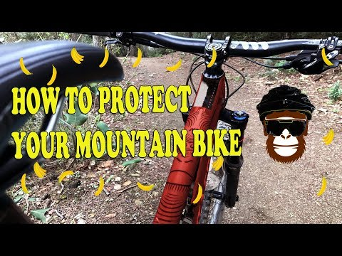 HOW TO PROTECT YOUR MOUNTAIN BIKE. ALL MOUNTAIN STYLE FRAME GUARD PROTECTION (видео)