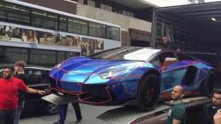 Video Lamborghini Liberty Walk Aventador with ArmyTrix Exhaust - First time in Europe! MP3, 3GP, MP4, WEBM, AVI, FLV Juni 2018
