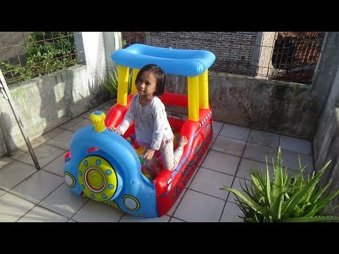 Review mainan kolam mandi bola anak Bayi lucu mandi bola #1Baby Funny Learn color with ball