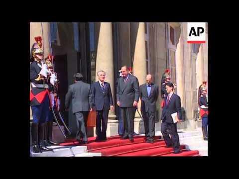 France-Jacques Chirac And Tomiichi Murayama Meet