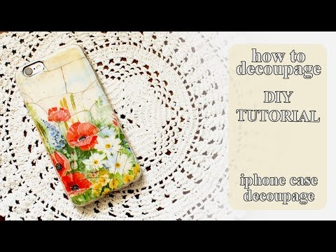 How to decoupage on plastic - DIY iPhone Case - How to Personalize a Phone case tutorial