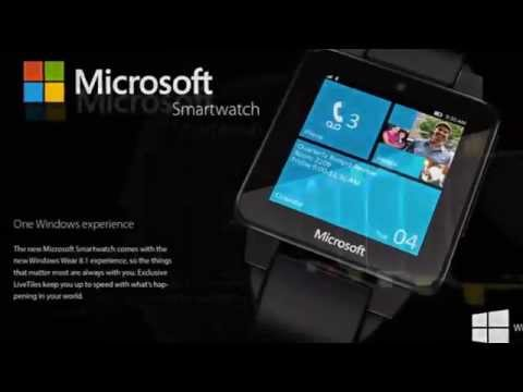 Microsoft Smartwatch 2015 with Windows 8.1