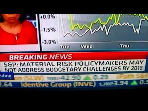 ***Breaking News*** S&P Predicts U.S. AAA rating to be cut within 24 Months