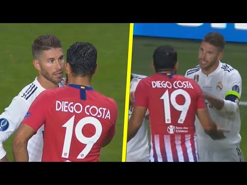 Sergio Ramos vs Diego Costa - All Fights & Crazy Moments HD