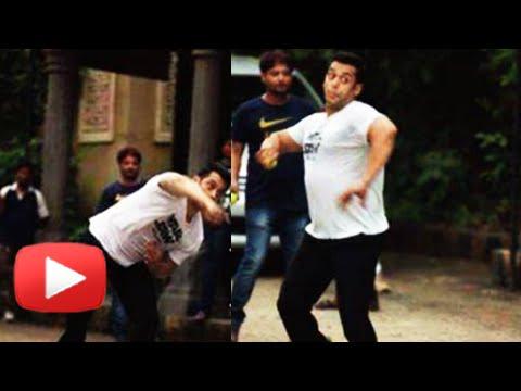 CAUGHT!! Salman Khan Playing Cricket with Children