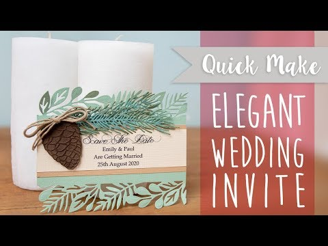 Elegant Save the Date - Sizzix
