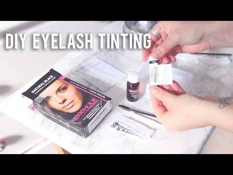 How to Tint your Eyelashes at Home | SUPER AFFORDABLE!