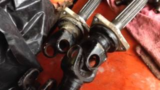10. RTV900 axle repair: U-joint disassembly