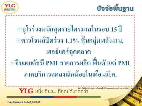 YLG บทวิเคราะห์ราคาทองคำประจำวัน 01-04-15