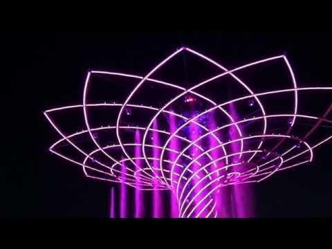 La suggestione di Expo in notturna