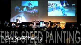 Speed Painter Brad Blaze with some audience fun (3 minute video)