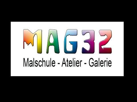 Bilder malen in der Malschule im MAG32 in Hilden