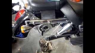 How to change the wheel on Honda Shadow VT 750 Shaft Drive.Also see part 2 and 3