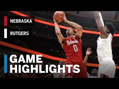 Highlights: Palmer's 34 Rallies the Huskers | Nebraska vs. Rutgers | March 13, 2019