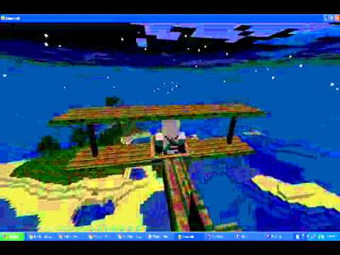 Flying over minecraft