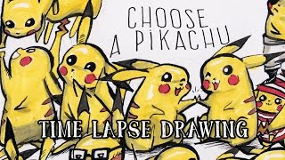 CHOOSE A PIKACHU! - Drawing time-lapse